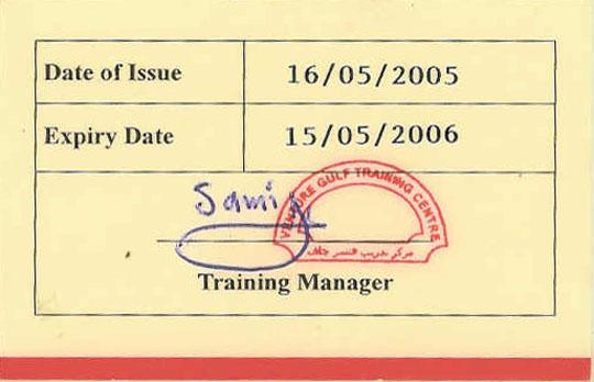 H2s Certificate